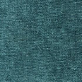 Paraiso - Mineral Blue - Fabric made from 100% polyester with a slightly patchy finish to the dark teal colour