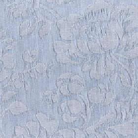 Rosalie - Arona - Very subtle large floral and bud designs patterning cotton and polyester blend fabric in light powder blue