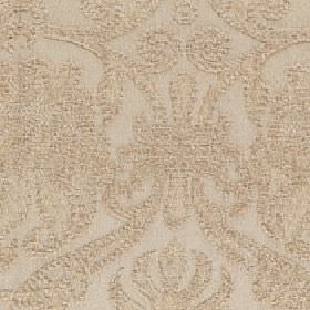 Amelia - Mustard Gold - Fabric made from cotton and viscose with a subtle, large, slightly textured swirl pattern in a creamy shade of beige