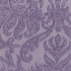 Amelia - Purple Ash - A slightly textured pattern of large dusky purple swirls on cotton and viscose blend fabric in a slightly lighter shad