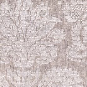 Giselle - Parchment - Two different, light shades of grey-beige making up a large, simple jacquard style pattern on 100% linen fabric