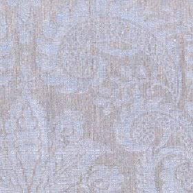Giselle - Starlight Blue - Subtly patterned 100% linen fabric made up of large, simple jacquard style designs in very pale shades of blue an