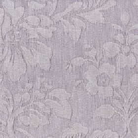 Rosalie - Simply Taupe - Fabric made from light purple-grey coloured cotton and polyester, with a large, stylish floral, leaf and bud patter