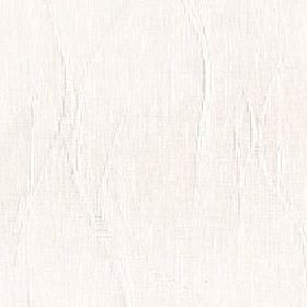 Solomon - Winter White - Very pale grey streaks and wavy lines on white 100% polyester fabric, creating a random, rough, almost invisible pa