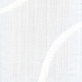 Kava - Snowdrop - Almost imperceptible vertical lines printed in an extremely pale grey shade on a white 100% polyester fabric background