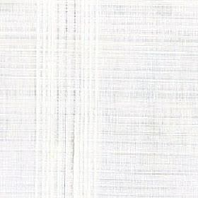Sesi - Snowdrop - White fabric made from 100% polyester with a subtle slightly patchy horizontal and vertical line pattern in light grey