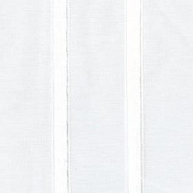Nogi - Snowdrop - Narrow, widely spaced vertical white lines printed on a very pale grey coloured 100% polyester fabric background