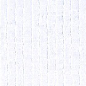 Attu - Bright White - Subtle, uneven wavy lines printed in pale grey in a vertical design on a white 100% polyester fabric background