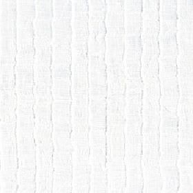 Attu - Snowdrop - 100% polyester fabric in white, with a light grey coloured repeated vertical design of pale, subtle, uneven wavy lines