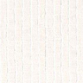 Attu - Winter White - Vertically striped fabric made from white and light grey-beige coloured 100% polyester with a subtle, uneven wavy desi