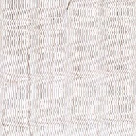 Aria - Ivory - Thin, uneven, wavy vertical lines printed on polyester and linen blend fabric in light shades of grey, beige and white