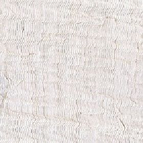 Aria - Oatmeal - Polyester and linen blend fabric made in pale grey-white shades with a vertical pattern of thin, irregular, wavy lines