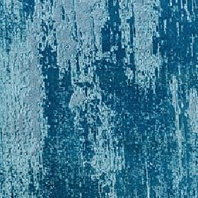 Soave - Teal - Sky blue and marine blue coloured patches covering viscose, cotton and polyester blend fabric