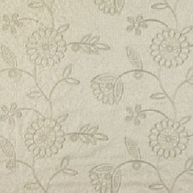 Helena - Truffle - Two elegant shades of grey making up a viscose and linen blend fabric with a simple, stylish floral and leaf pattern