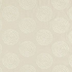 Ophelia - Parchment - Very subtle patterned circles printed in two similar light shades of grey on polyester, cotton and viscose blend fabri