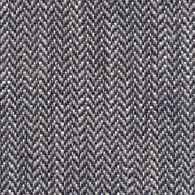 Talia - Ash - Simple zigzagging herringbone style designs woven in black, grey and white on fabric containing a blend of four materials
