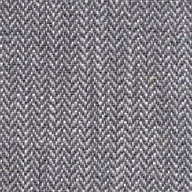 Talia - Metal - Fabric made from linen, viscose, polyester and cotton in white and two shades of grey, with a small herrinbone pattern