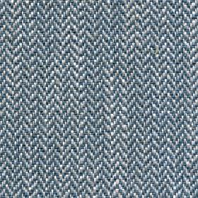 Talia - Mineral Blue - Blue-grey, light grey and white fabric made with a linen, viscose, polyester and cotton blend and a herringbone desig