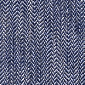 Talia - Monnlight Blue - A small herringbone design woven into linen, viscose, polyester and cotton fabric in midnight blue, blue-grey and w