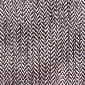 Talia - Otter - Dark brown-grey, light beige and white herringbone patterns woven from linen, viscose, polyester and cotton blend fabric