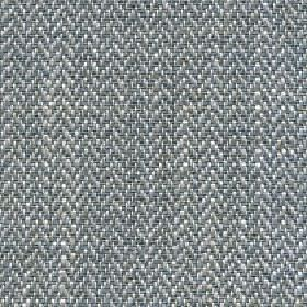 Talia - Stone Blue - A blue-grey, light grey and white herringbone pattern woven into linen, viscose, polyester and cotton blend fabric
