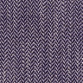 Talia - Aubergine - Herringbone patterned linen, viscose, polyester and cotton blend fabric woven in black, lavender and white