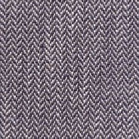 Talia - Walnut - Dark grey, light grey & white linen, viscose, polyester & cotton blend threads woven into a herrinbone patterned fabric