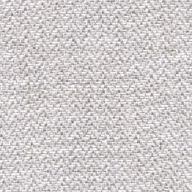 Talia - Winter White - Subtle pale grey & off-white herringbone patterns woven into fabric made with a linen, viscose, polyester & cotton bl