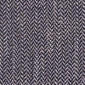 Talia - Dark Earth - Black, grey and white coloured linen, viscose, polyester and cotton blend fabric featuring a small herringbone pattern