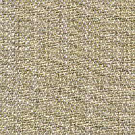 Talia - Dusky Citron - Fabric made with a speckled design in light green, grey and white, with a linen, viscose, polyester and cotton conten