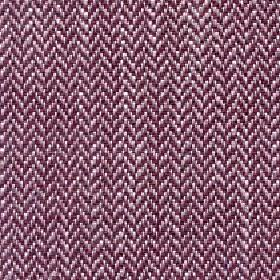 Talia - Earth Red - Fabric made with a small herringbone design from linen, viscose, polyester & cotton threads in berry, dusky pink & white