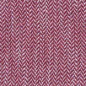Talia - Fiesta - Dark red, pink-grey and white coloured herrinbone patterns woven into fabric blended from four different materials