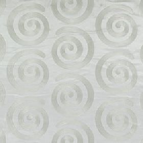 Antonio - Snow Drop - Simple, stylish swirls making up a subtle pattern on fabric made from 100% polyester in 2 similar light blue-grey shad