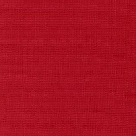 Tundra - Red Rose - Bright ruby red coloured cotton, viscose and linen blend fabric