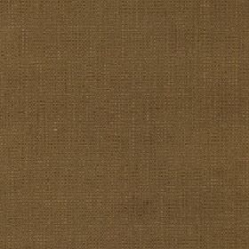 Tundra - Teak - Fabric made from cotton and viscose in a plain blend of warm brown and khaki colours