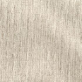 Petara - Hessian - Cream and light grey coloured cotton and polyester blend fabric made with a pattern of regular vertical streaks