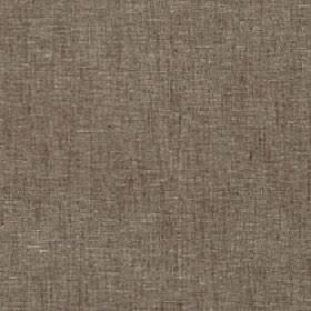 Athos - Shitake - Fabric made from dark brown-grey and light cream-grey coloured polyester, cotton and linen with a patchy, streaky finish
