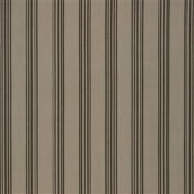 Morocala - Cocoa - Thin dark grey stripes running vertically in a regular, simple, even pattern on mid-grey 100% cotton fabric