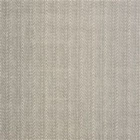 Barancona - Slate - Very subtly patterned stripes making up a viscose, polyester and linen blend fabric in light grey and cream