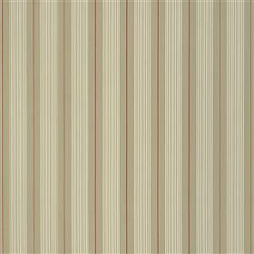 Talera - Pumice - Vertically striped 100% cotton fabric featuring a regular, repeated pattern inbeige, light grey and dark red shades
