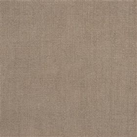 Alaro - Cocoa - Plain fabric made from 100% linen in a blend of brown and grey colours