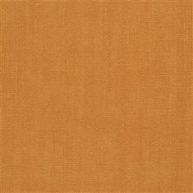 Alaro - Nasturtium - Dark amber coloured 100% linen fabric