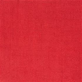 Alaro - Poppy - 100% linen fabric made in a very bright shade of pillarbox red