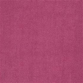 Alaro - Cassis - Fabric made from unpatterned linen in a dark shade of pink
