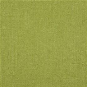 Alaro - Moss - Fabric made entirely from linen in a plain, bright shade of pistachio green