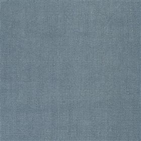 Alaro - Ink - Fabric made from 100% linen in dusky blue with no pattern