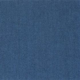 Alaro - Navy - Plain denim blue coloured fabric made with a 100% linen content