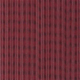 Lipari - Scarlet - Fabric made from cotton and jute in dark grey and two dark red shades with vertical stripes and blurred horizontal lines
