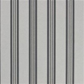Ufra - Slate - Fabric blended from several different materials with a simple vertical stripe design in four light shades of grey