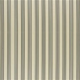 Thiva - Slate - Light grey, black and putty coloured 100% silk fabric featuring a simple, thin, regular pattern of vertical stripes